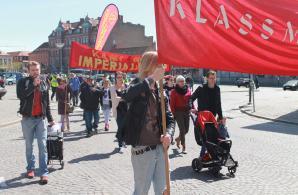 Röd Front-demonstration i Lund