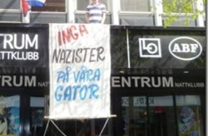 Kommunistiska Partiet och Svensk-Kubanska Föreningen prydde nazisternas marschväg i Jönköping