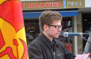 Max Karlsson talar i Skellefteå