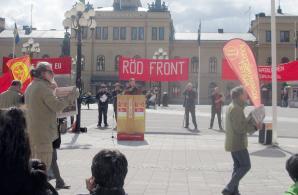 Leon Falk talar i Sundsvall