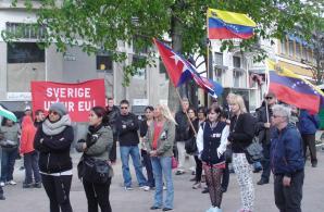 Publik på Röd Front i Växjö