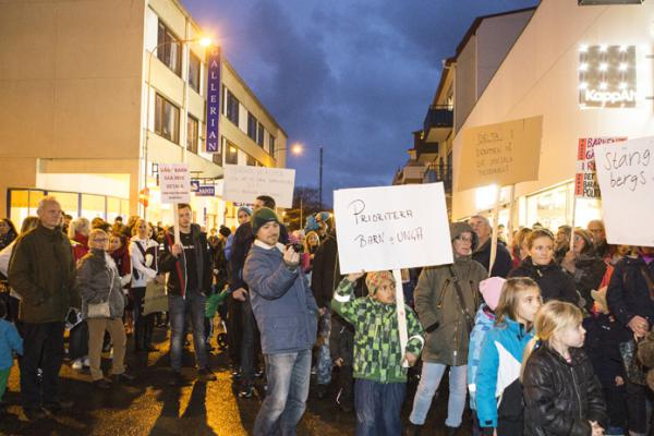 Demonstration i Lysekil