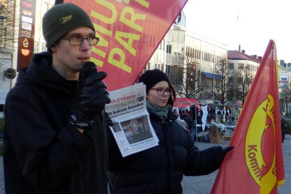 Kommunisternas torgmöte i Örebro.