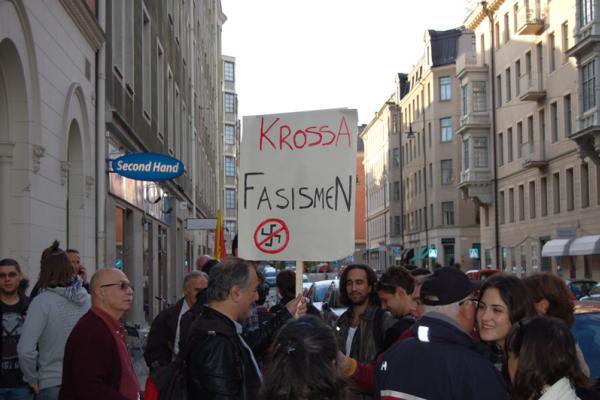 Protest mot det fascistiska våldet