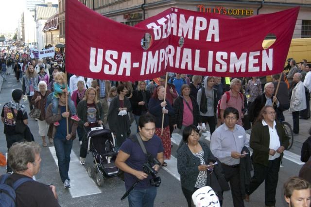 Demonstration i Stockholm 4 september.