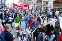 2000 deltog i demonstrationståget i Stockholm.