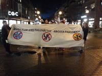Antifascistisk manifestation i Karlstad.