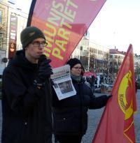 Torgmöte i Örebro.