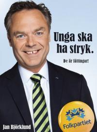 Björklunds valaffisch mot flumskolan?