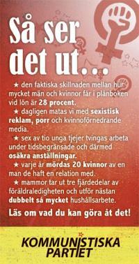 Flygblad jämställdhet 2013