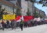 Demonstration mot Nato i Karlskrona.